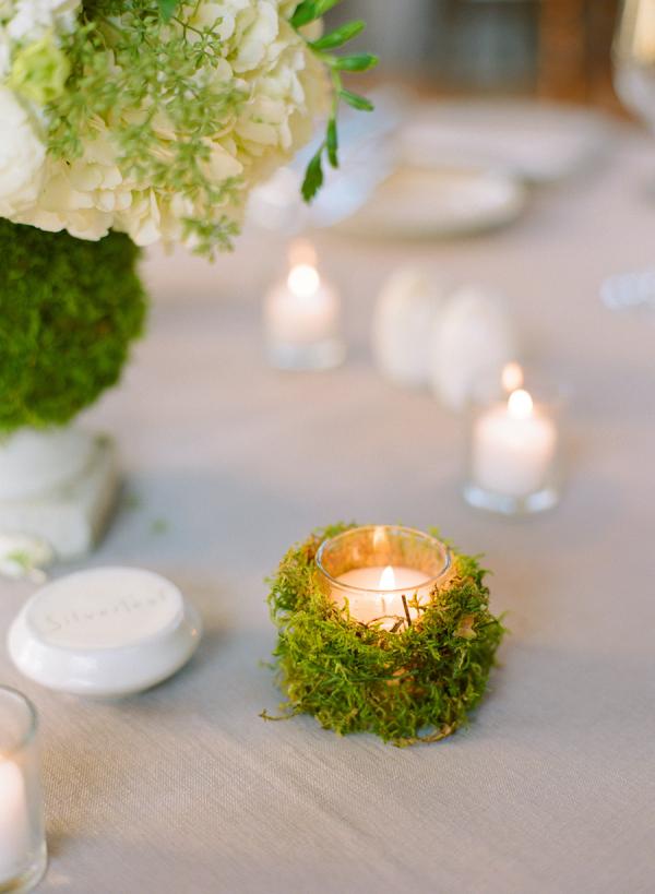Moss Covered Votive Elizabeth Anne Designs The Wedding Blog