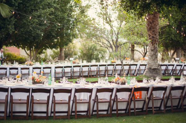 Outdoor Palm Springs Reception