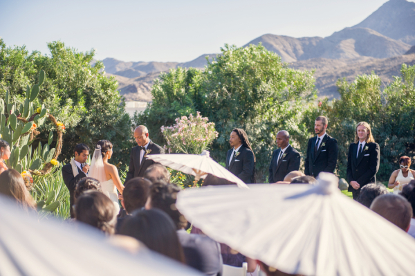 Outdoor Palm Springs Wedding Ceremony