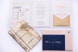 Paris Destination Wedding Stationery