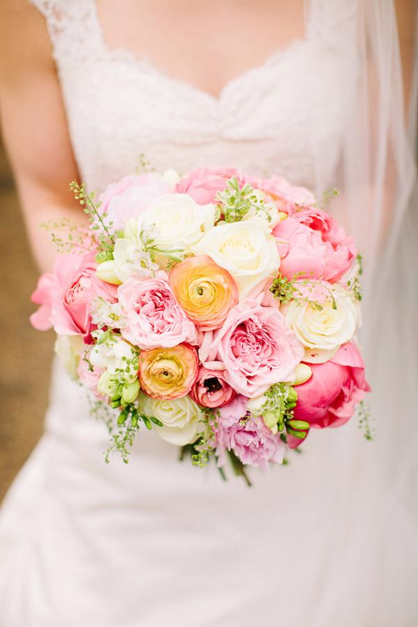 Pink Pastel Garden Bouquet Elizabeth Anne Designs The Wedding Blog