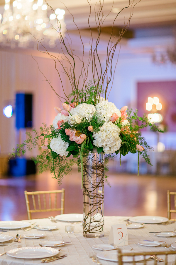 Pink And Green Arrangement With Curly Willow Elizabeth