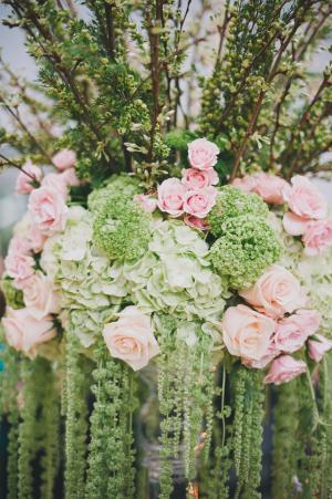 Pink and Green Wedding Arrangement