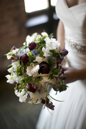 Plum and Cream Floral Bouquet