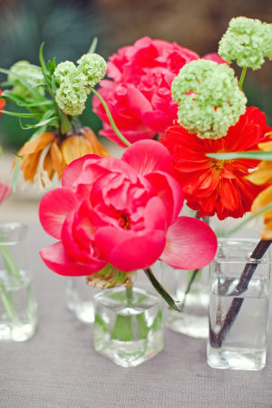 Poppies in Glass Vases