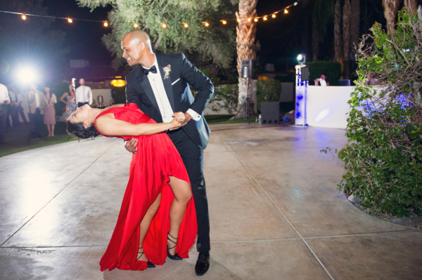 Red Dress for First Dance at Reception