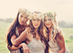 Romantic Hair Ideas and Floral Wreaths