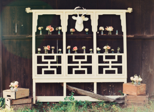 Rustic Floral Decor in Barn