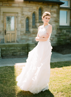 Sheer Tulle Wedding Gown
