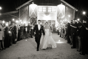 Sparklers at Reception Exit