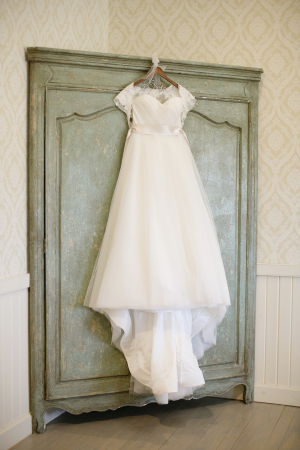 Strapless Wedding Gown With Lace Jacket