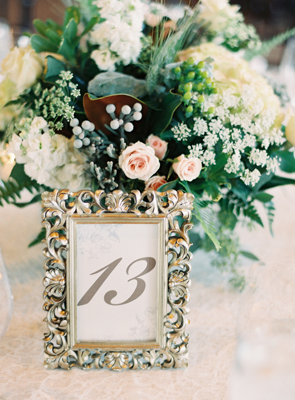 Table Number In Silver Frame