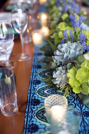 Turquoise and Green Table Decor Ideas