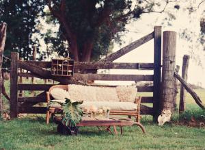 Vintage Wicker Settee in Field