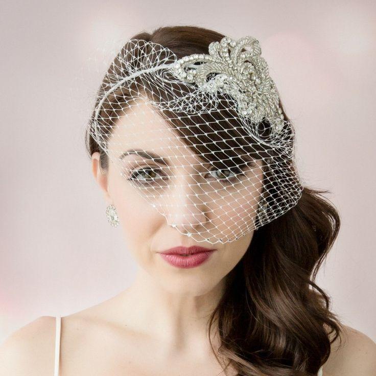 Vintage Wedding Hairstyles With Birdcage Veil: Elizabeth Anne Designs: The Wedding