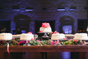 Wedding Cake Table at Reception