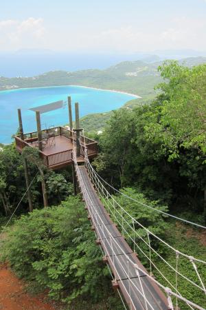 Ziplining in St Thomas