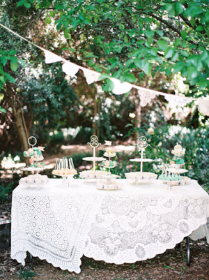 Antique Lace Linens in Wedding