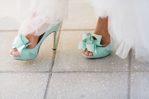 Aqua Blue Bridal Shoes