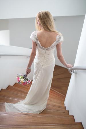 Beaded V Back on Bridal Gown