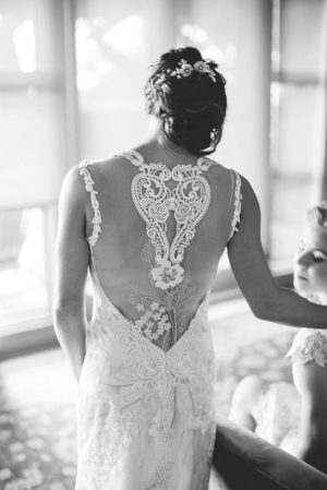 Beautiful Applique Backed Gown