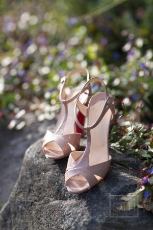 Blush T Strap Bridal Shoes
