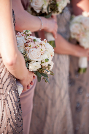 Blush and Cream Bouquets