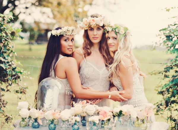 Bohemian Bridesmaids Inspiration