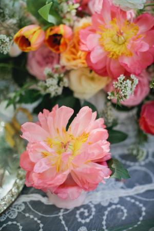 Bold Garden Blooms Tea Party Decor