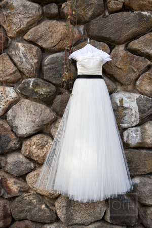 Bridal Gown With Black Sash