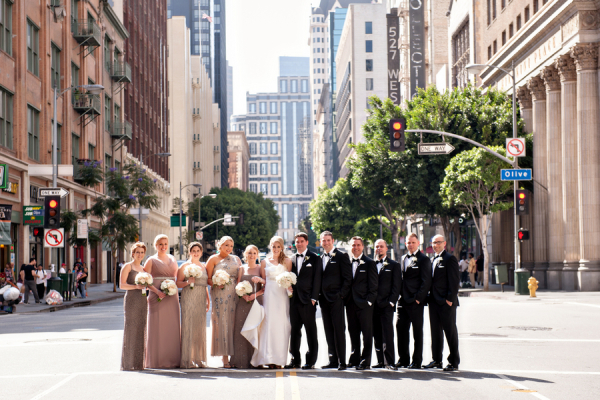 Bridal Party in Downtown Los Angeles