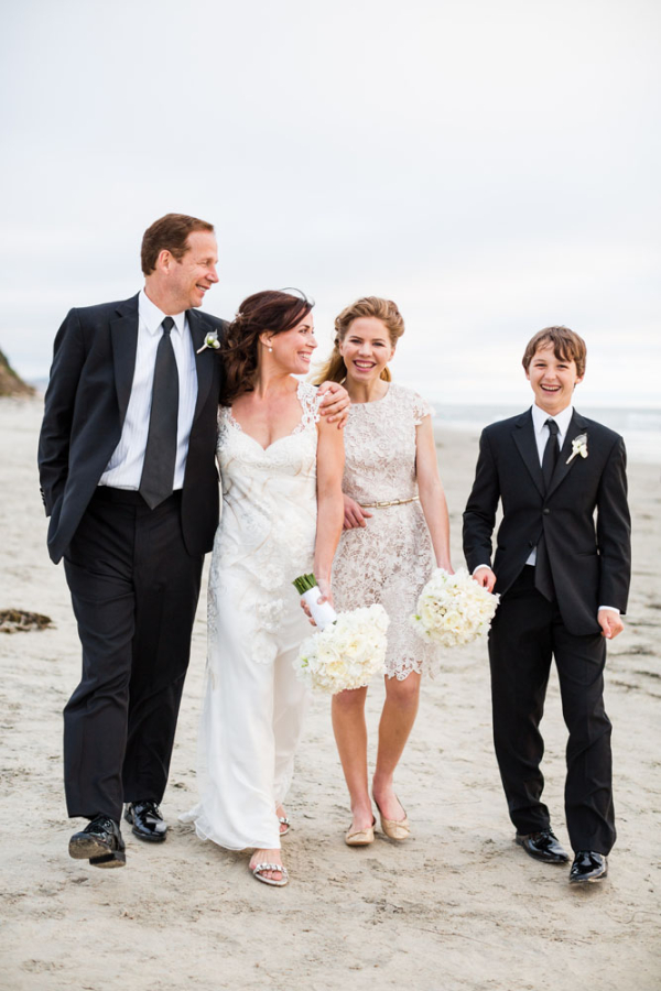 Bridal Party on the Beach