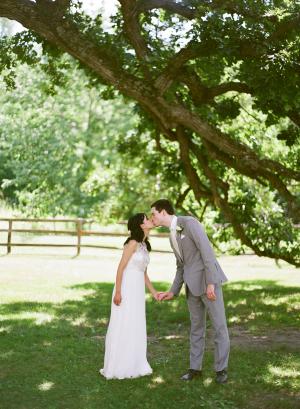Bride and Groom Kiss From Laura Ivanova