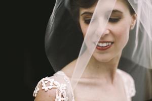 Bride in Blusher Veil