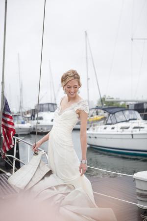Bride on Sailboat