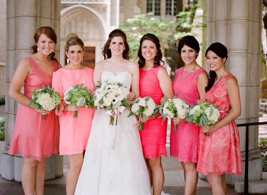 Bright Coral Bridesmaids Dresses - Elizabeth Anne Designs: The ...