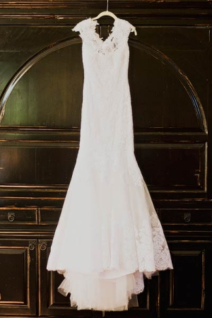 Cap Sleeve Lace Wedding Gown