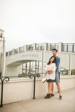 Casual Couple Portrait on Boardwalk