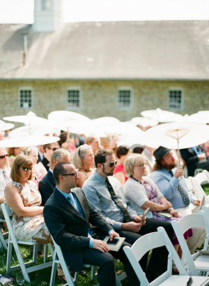 Ceremony Guests with Parasols