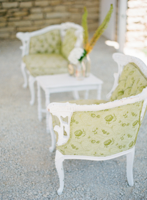 Chartreuse Chairs Wedding Lounge Area