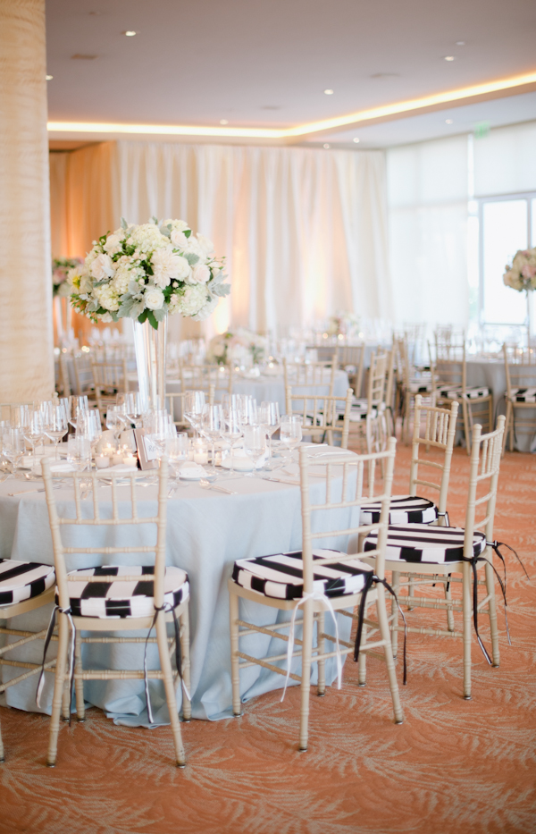 Chiavari Chairs with Black and White Cushions