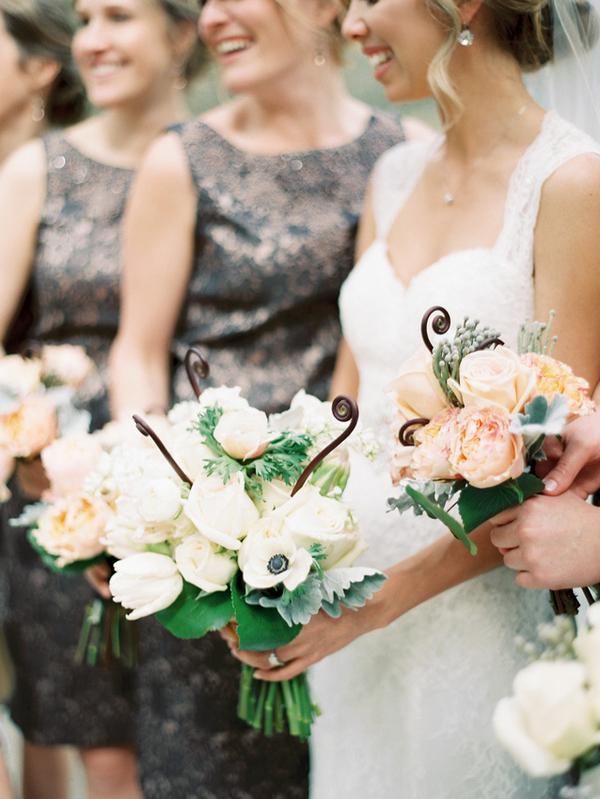 Chic Copper Bridesmaids Dresses