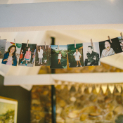 Childhood Photos at Wedding