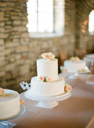 Classic Combed Icing Wedding Cake