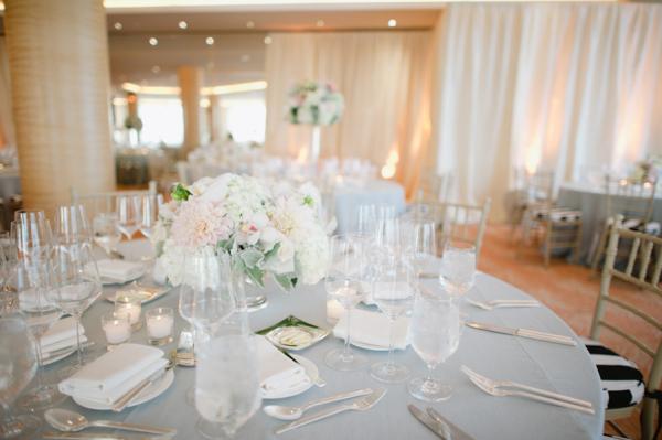 Classic White and Cream Wedding Reception