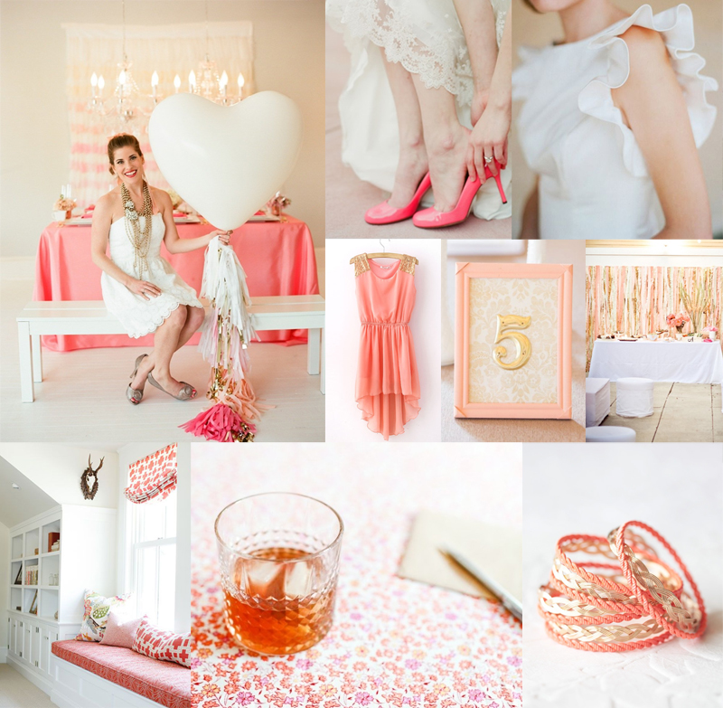 Brown And Gold Wedding Ideas: Coral Gold Wedding Colors