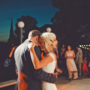 Couple First Dance Outdoors