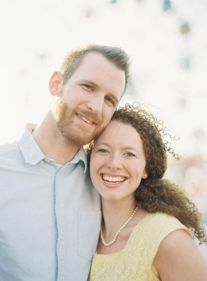 Couple Headshot Engagement Portrait From Jen Huang