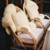 Cream Pashmina Wedding Favors