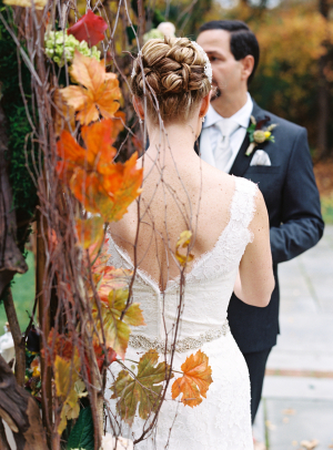 Curled Chignon Updo Bridal Hair Ideas